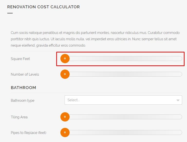 4 cost calculator items cost calculator documentation